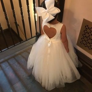 David's Bridal Tulle Dress Heart Shape Back
